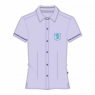 FPS GIRLS SS BLOUSE BLUE GR 7-1