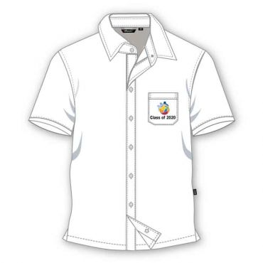 GIS BOYS SS SHIRT WHITE GRADE 11-12